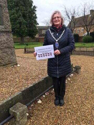 Councillor Burnham at War Memorial