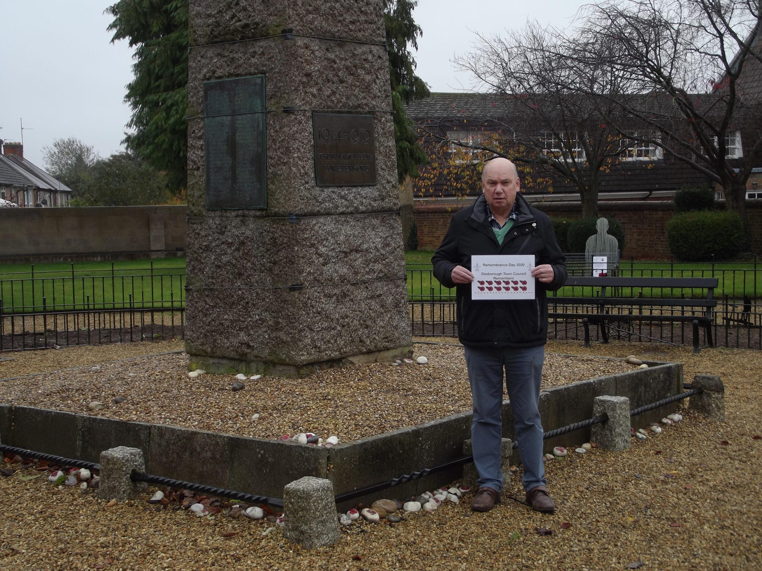 Councillor Draycott at War Memorial