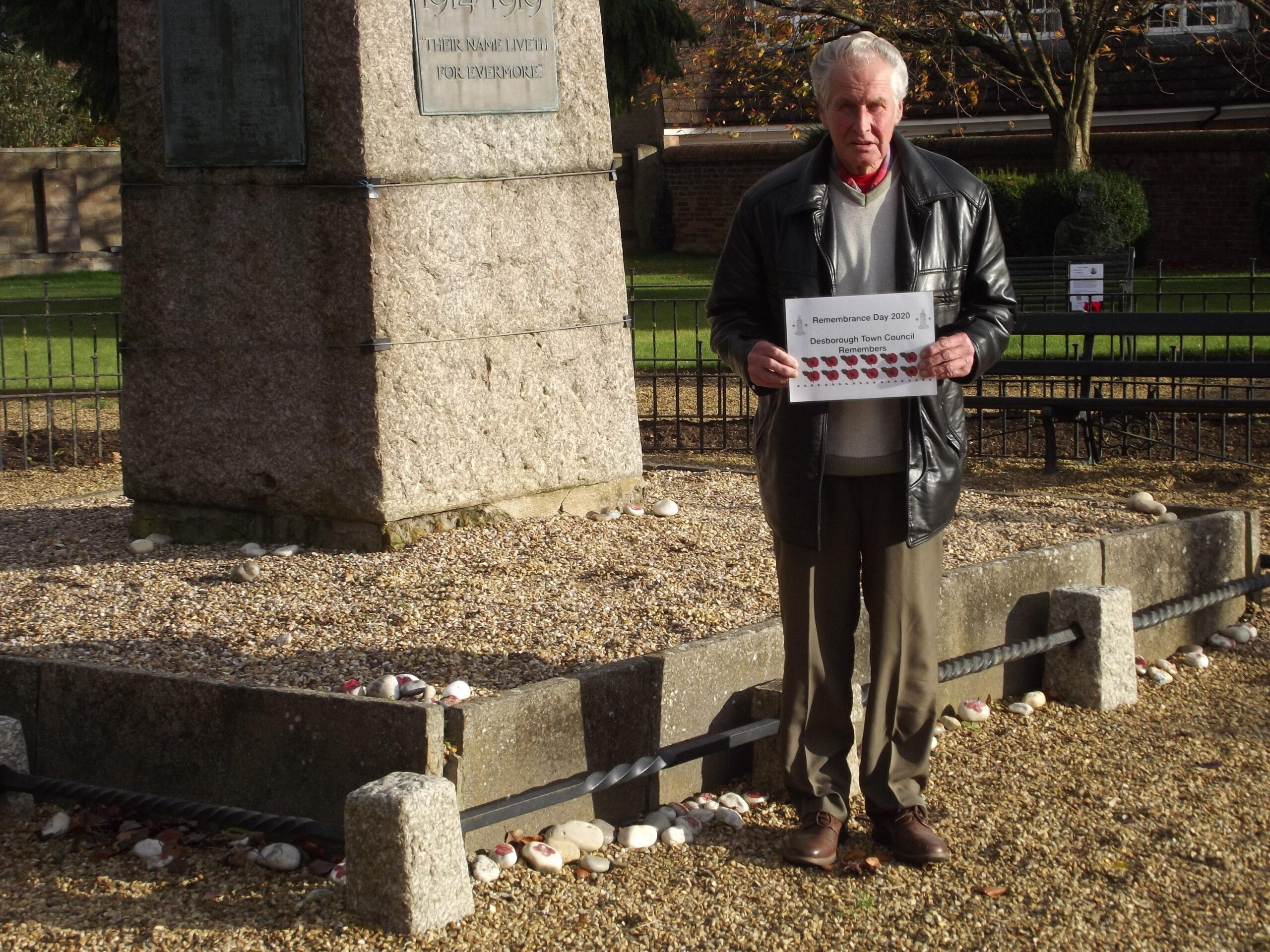 Councillor French at War Memorial