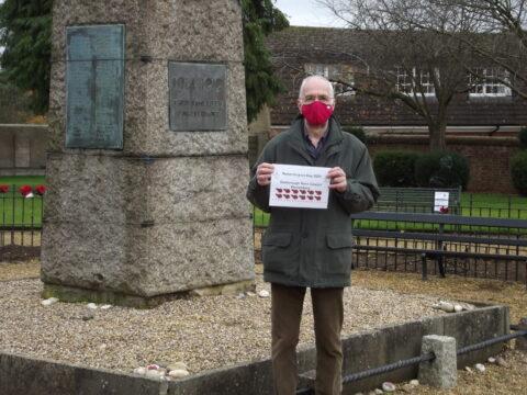 Councillor Larmour at War Memorial